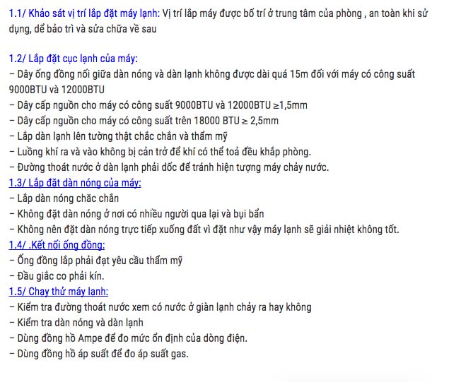 thi cong lap dat may lanh